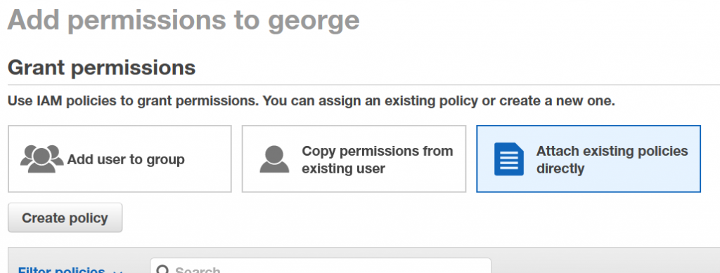AWS IAM User - Add Permissions