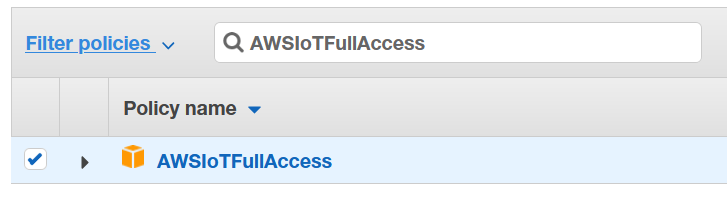 AWSIoTFullAccess