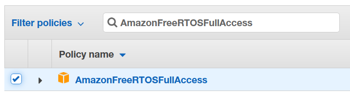 AmazonFreeRTOSFullAccess