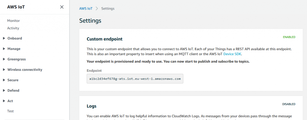 AWS IoT Endpoint