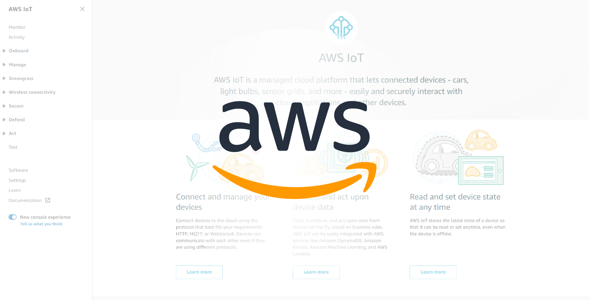Configuring AWS IoT for Device Connections