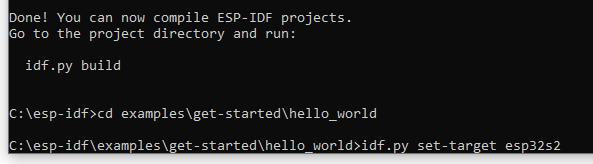 ESP-IDF Build Set Target