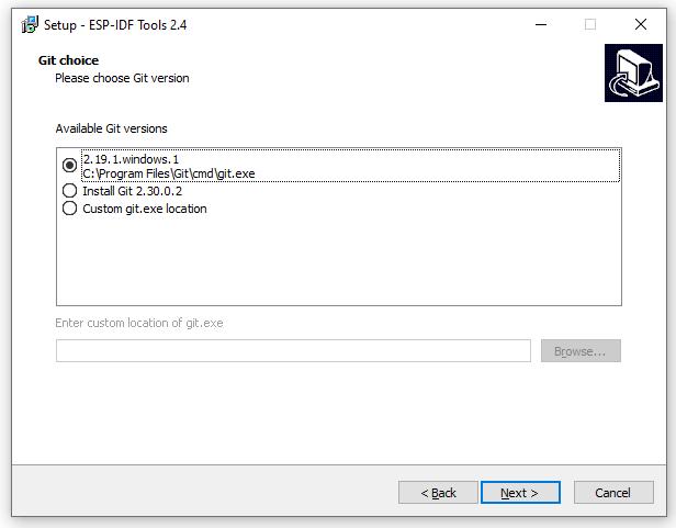 ESP-IDF Tools Installer - Git