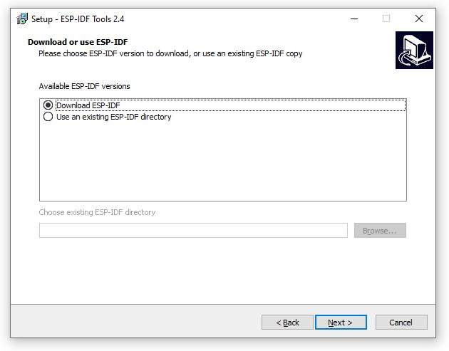 ESP-IDF Tools Installer - ESP-IDF