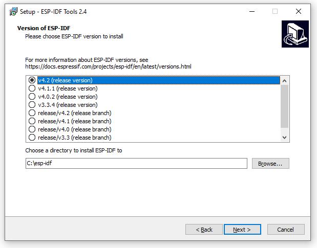 ESP-IDF Tools Installer - ESP-IDF Download