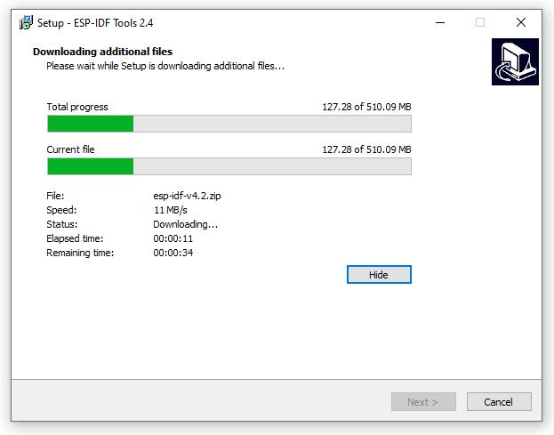 ESP-IDF Tools Installer - Install