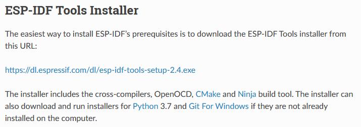 ESP-IDF Tools Installer Download